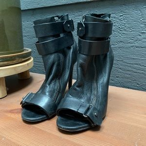 Dolce Vita Leather Peep Toe Booties